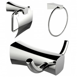American Imaginations AI-13416 Towel Ring, Toilet Paper Holder And Robe Hook Accessory Set