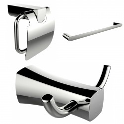 American Imaginations AI-13441 Robe Hook, Single Rod Towel Rack And Toilet Paper Holder Accessory Set