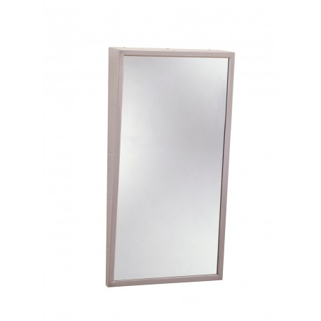 Bobrick B-294 Stainless Steel Frame Tilt Glass Mirrors