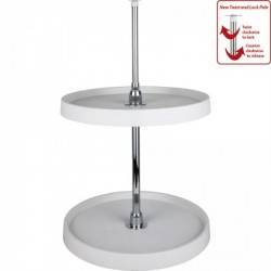 Hardware Resources Round Plastic Lazy Susan Set with Chrome Hubs