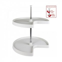 Hardware Resources Kidney Plastic Lazy Susan Set with Chrome Hubs