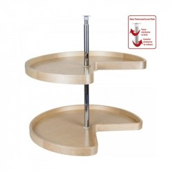 Hardware Resources Kidney Banded Lazy Susan Set with Twist and Lock Adjustable Pole