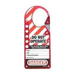 Master Lock 427 Labeled Snap-on OSHA Safety Lockout Hasp