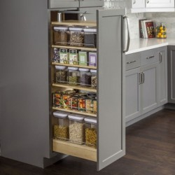 Hardware Resources Wood Pantry Cabinet Pullout