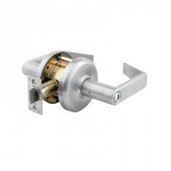 K2 Privacy Satin Chrome Lever