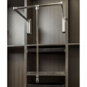 "Hardware Resources 1532SC Soft-close Wardrobe Lift 33"" Expanding to 48"""