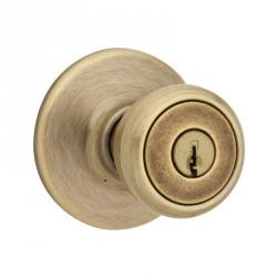 Kwikset 400T Tylo Entry Knob in US5 Antique Brass