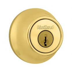 Kwikset 660 Single Cylinder Deadbolt in Polished Brass SPECIAL, LIMITED STOCK