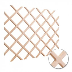 Hardware Resources Wine Lattice Rack with Bevel (Height 45 Inches)
