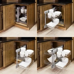 """Blind Corner Universal Basket Pullout for 15-3/4"""" Opening"""