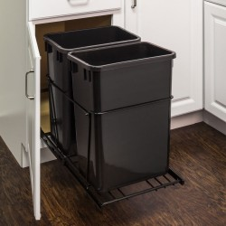 Hardware Resource CAN Double Pullout Waste Container System (35-Quart)