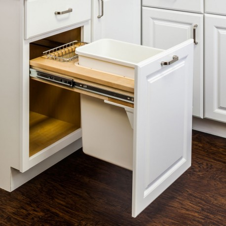 Hardware Resources Top Mount Soft Close Single Trash Can Unit