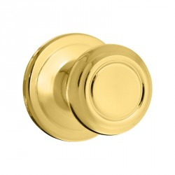 Kwikset 720CN US3 Cameron Passage Door Knob in Polished Brass