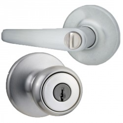 Kwikset 400DL US26D RCAL RCS Delta Keyed Entry Lever in Satin Chrome