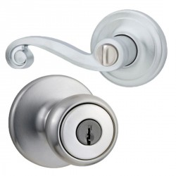 Kwikset 400LL US26 Right Handed Rcal RCS Lido Entry in Polished Chrome