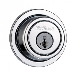 Kwikset 993 Single Cylinder Contemporary Round Deadbolt