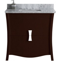 American imaginations AI-18245 Birch Wood-Veneer Vanity Set In Coffee