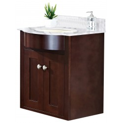 American imaginations AI-18351 Birch Wood-Veneer Vanity Set In Coffee