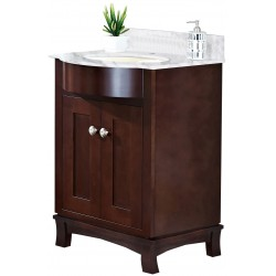 American imaginations AI-18352 Birch Wood-Veneer Vanity Set In Coffee