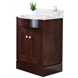American imaginations AI-18355 Birch Wood-Veneer Vanity Set In Coffee