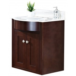 American imaginations AI-18359 Birch Wood-Veneer Vanity Set In Coffee