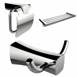 American imaginations AI-13442 Robe Hook, Multi-Rod Towel Rack And Toilet Paper Holder Accessory Set