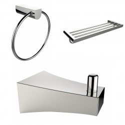 American imaginations AI-13541 Robe Hook, Multi-Rod Towel Rack And Towel Ring Accessory Set