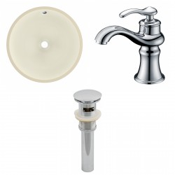 American imaginations AI-13199 CUPC Round Undermount Sink Set In Biscuit With Single Hole CUPC Faucet And Drain