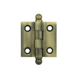 "Deltana 1.5"" x 1.5"" Cabinet Hinge with Ball Tip Finials"