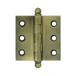 "Deltana 2"" x 2"" Cabinet Hinge with Ball Tip Finials"