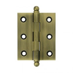 "Deltana 2-1/2"" x 2"" Cabinet Hinge with Ball Tip Finials"