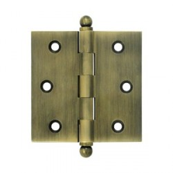 "Deltana 2-1/2"" x 2-1/2"" Cabinet Hinge with Ball Tip Finials"