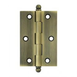 "Deltana 3"" x 2"" Cabinet Hinge with Ball Tip Finials"