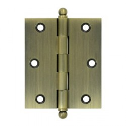 "Deltana 3"" x 2-1/2"" Hinge with Ball Tip Finials"