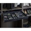 Hardware Resources JD1-24R Series 10 compartment jewelry organizer with ring insert