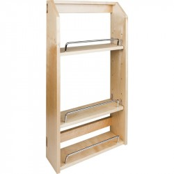 Hardware Resources Adjustable Spice Rack for Wall Cabinet