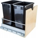 "Hardware Resources CAN-MDB 35 Quart Double Pullout Waste Container System Featuring 21"" Undermount System"