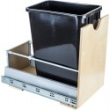 "Hardware Resources CAN-MDBS 35 Quart Single Pullout Waste Container System Featuring 21"" Undermount System"