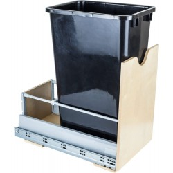 "Hardware Resources Preassembled 50 Quart Single Pullout Waste Container System Featuring 21"" Undermount System"