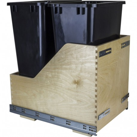 Hardware Resources Preassembled 50-Quart Double Pullout Waste Container System (CDM-WBM Series)