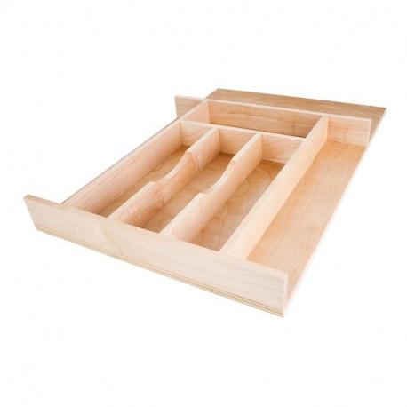 "Hardware Resources 14-5/8""W x 22""D x 2-1/4""H Drawer Organizer Insert Cutlery Tray"