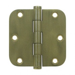 "Deltana 3-1/2""x 3-1/2"" x-5/8"" Distressed Finish Radius Corner Hinge"