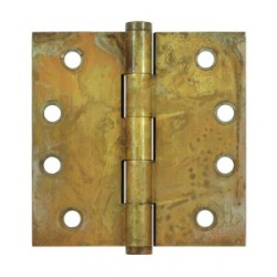"Deltana 4""x 4"" Distressed Finish Square Hinge"