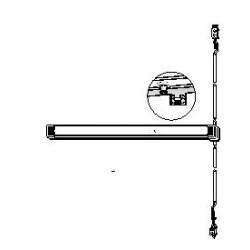 Adams Rite 8600 Series Life-Safety Narrow Stile Concealed Vertical Rod Exit Device