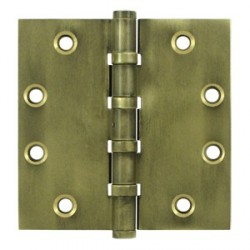 "Deltana 4-1/2"" x 4-1/2"" Distressed Finish Square Ball Bearing Hinge"