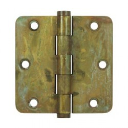 "Deltana 3-1/2"" x 3-1/2"" x-1/4"" Distressed Finish Radius Corner Hinge"