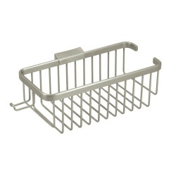 "Deltana 10"" Rectangular Shampoo Basket w/ Hook"