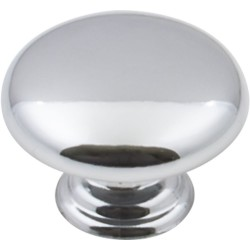 "Elements 3950 Series Gatsby 1 3/16"" Diameter Mushroom Cabinet Knob with One 8 32 x 1"" and One 1 1/4"" Screw"