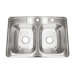 "Deltana Stainless Steel 33"" x 22"" Drop-In Sink"