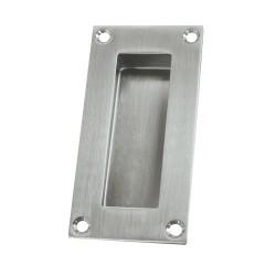 """Deltana FP155 Flush Pull, Rectangular, Stainless Steel, 4"""" x 1"""" x-1/2"""""""